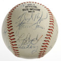 Autographs:Baseballs, 1985 Baltimore Orioles Team Signed Baseball. Each of the twenty-onesignatures on the baseball offered here comes courtesy ...