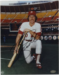 Autographs:Photos, Mike Schmidt Signed Photograph. The hard-hitting third baseman MikeSchmidt brought a unique blend of batting power with fi...