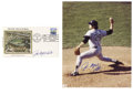 Autographs:Others, Catfish Hunter Signed Photograph and First Day Cover. The amazingcontrol the pitcher Catfish Hunter would display, especia...