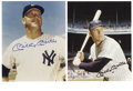 Autographs:Photos, Mickey Mantle Signed Photographs Lot of 2. Each of these twowonderful signed prints by the New York Yankees legend portray...