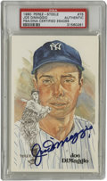 Autographs:Post Cards, Joe DiMaggio Signed Perez-Steele Post Card PSA Authentic. ThePerez-Steele HOF postcards are known for their poignance and ...