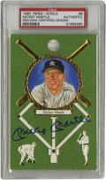 Autographs:Post Cards, Mickey Mantle Signed Perez-Steele Master Works Post Card PSAAuthentic. From Perez-Steele's Master Works issue we offer the...