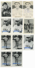 Autographs:Post Cards, Vintage Baseball Stars Signed Postcards Lot of 11. Elevenpostcard-sized black and white images each carries with it aqual...