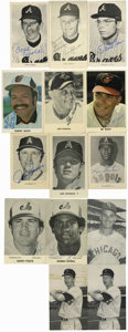 Autographs:Post Cards, Baseball Stars Signed Postcards Lot of 14. Fourteen assortedpostcards signed by various stars such as Darrell Evans, Ken J...