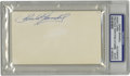 Autographs:Index Cards, Chick Gandil Signed Index Card PSA Authentic. What an opportunity to own a 10/10 signature from Chick Gandil, the ringleade...