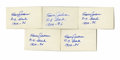 "Autographs:Index Cards, Travis Jackson Signed Index Cards Lot of 5. Known as ""Stonewall""for his defensive prowess at the shortstop position, Travi..."