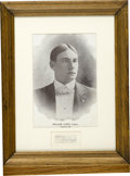Autographs:Others, William Lange Cut Signature with Copperplate Portrait. Lange, captain for the 1898 Chicago Orphans, is depicted here in thi...