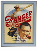 Autographs:Others, Circa 1930s Johnny Mize Signed Advertising Piece. HOF slugger haslent his likeness to the Liggett & Myers Tobacco Co. to a...