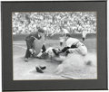 """Autographs:Photos, 1945 """"Detroit Free Press"""" Baseball Photograph. Amazing action shot courtesy of the Detroit Free Press dates from July 1..."""