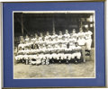 Baseball Collectibles:Photos, 1955 Brooklyn Dodgers Team Photograph. The World Series Champs of'55, the Brooklyn Dodgers captured their first Fall Class...