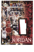 Basketball Collectibles:Others, 1999 Upper Deck Master Collection Farewell Shot Game Michael JordanUsed Uniform Card. A game-used jersey swatch from the a...
