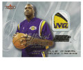 Basketball Collectibles:Others, 2000-01 Fleer Feel the Game Shaquille O'Neal. Genuine swatch fromthe Swiss-embroidered Los Angeles Lakers logo found over ...