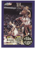 Basketball Collectibles:Others, 1992-93 Fleer Team Leaders Michael Jordan #4 Signed Card. Great action shot on the 1992-93 Fleer Team Leaders card offered ...