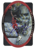 Basketball Collectibles:Others, 1996 SPx Holoview Heroes Michael Jordan #H1 Signed Card. The Holoview Heroes issue from 1996 used SPx's hologram technology...