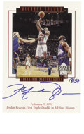 Basketball Collectibles:Others, 1999 Upper Deck MJ Master Collection Michael Jordan SignaturePerformances #MJ8. Hand-numbered and signed card from the per...