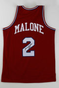 Basketball Collectibles:Others, Moses Malone Signed Jerseys Lot of 4. Moses Malone was a monster onthe boards in his playing days, recording a crazy 15 st... (Total:4 Items)