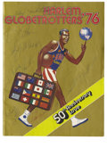 Basketball Collectibles:Others, 1976 Harlem Globetrotters Signed Program. Members from the HarlemGlobetrotters, the most exciting basketball team on the p...