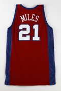 Basketball Collectibles:Uniforms, 2001-02 Darius Miles Game Worn Jersey. Red mesh away jersey offeredwas worn on the NBA hardwood by none other than then-Lo...