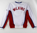 Basketball Collectibles:Uniforms, 1994 Dominique Wilkins Game Worn Warm Up Jacket with Los AngelesClippers Shorts. Rarely in the history of basketball has t...(Total: 2 Items)