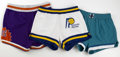 Basketball Collectibles:Uniforms, Circa 1980s Game Worn Basketball Shorts Lot of 3. Here we offerthree pairs of game worn shorts used in NBA competition dur...(Total: 3 Items)