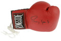 Boxing Collectibles:Autographs, Roy Jones Jr. Signed Boxing Glove. This right-hand glove fromRingside Products has been signed by Roy Jones, Jr., the Boxi...