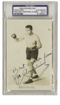 Boxing Collectibles:Autographs, Max Schmeling Signed Postcard PSA Authentic. Unmailed photographic postcard features German boxer Max Schmeling's excellent...