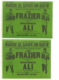 Boxing Collectibles:Memorabilia, 1971 Ali-Frazier I Fight Posters Lot of 2. On March 8, 1971, undefeated Joe Frazier defended his Heavyweight belt against a...