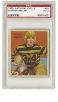 Football Cards:Singles (Pre-1950), 1935 National Chicle Warren Heller #20 PSA VG 3. Great low-number card from the '35 National Chicle set features halfback W...