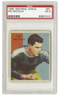 Football Cards:Singles (Pre-1950), 1935 National Chicle Nic Niccolai #31 PSA VG 3. Fine example Nic Niccolai card from the super-tough 1935 National Chicle is...