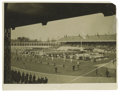 """Football Collectibles:Others, Jim Thorpe Signed Photograph From the 1920 Summer Olympics. This 8x10"""" photo captures a vast field of athletes as they file..."""
