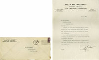 """1937 Earl """"Curly"""" Lambeau Signed Typed Letter. From the man who founded, played for, and was the first coach f..."""
