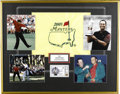 "Golf Collectibles:Autographs, 2005 Masters Tiger Woods Signed Display. Large display (26x33"")has, as its focus, Tiger's triumph at Augusta National for ..."