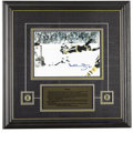 """Hockey Collectibles:Others, Bobby Orr """"The Goal"""" Signed Photograph. Captured here is one of the most famous moments in hockey history -- Bobby Orr scor..."""