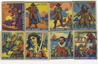 1933 World Wide Gum (Canadian Goudey, R-124) Searaider Near Set (47/48). Pirates, explorers and ships are the subject ma...