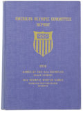 Miscellaneous Collectibles, 1936 American Olympic Committee Official Games Report. Very rarebook published by the American Olympic Committee after the...