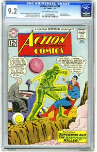 Action Comics #294 (DC, 1962) CGC NM- 9.2 Off-white to white pages. Lex Luthor Appearance. Supergirl backup story. Al Pl...