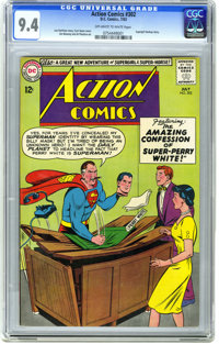 Action Comics #302 (DC, 1963) CGC NM 9.4 Off-white to white pages. Supergirl backup story. Curt Swan cover. Jim Mooney a...