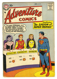 Adventure Comics #247 (DC, 1958) Condition: Apparent VG. This key DC Silver Age issue features the first appearance of t...