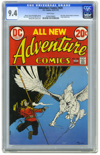 Adventure Comics #425 (DC, 1973) CGC NM 9.4 White pages. New look. Origin of Captain Fear. Alex Toth, Gil Kane, and Alex...