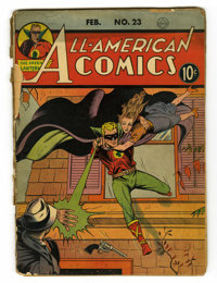 All-American Comics #23 (DC, 1941) Condition: FR. Last Daisybelle, 3 Idiots begin. Sheldon Moldoff cover. Sheldon Mayer...