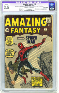 Amazing Fantasy #15 (Marvel, 1962) CGC Apparent GD+ 2.5 Off-white to white pages. Looking for an affordable copy of the...