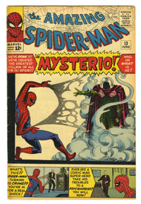The Amazing Spider-Man #13 (Marvel, 1964) Condition: VG+. First appearance of Mysterio. Steve Ditko cover and art. Overs...