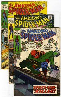 The Amazing Spider-Man Group (Marvel, 1970-72) Condition: Average VG+. Group of sixteen comics contains Amazing Spider-M...