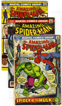 The Amazing Spider-Man Group (Marvel, 1973-74) Condition: Average FN-. Lot of five key Bronze Age Amazing Spider-Man boo...