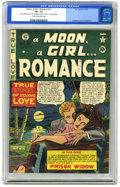 Golden Age (1938-1955):Romance, A Moon, A Girl... Romance #12 (EC, 1950) CGC VF- 7.5 Cream tooff-white pages. Al Feldstein cover art. Graham Ingels art. Ov...