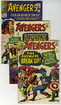 The Avengers Group (Marvel, 1964-65) Condition: Average VG/FN. Included here are #10 (first appearance of Immortus), #13...