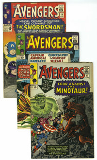 The Avengers Group (Marvel, 1965-67) Condition: Average VG. The first appearance of the Swordsman in #19 is a highlight...