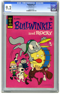 Bullwinkle #3 File Copy (Gold Key, 1972) CGC NM- 9.2 Off-white pages. Overstreet 2006 NM- 9.2 value = $70. CGC census 4/...