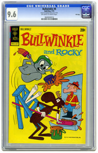 Bullwinkle #8 File Copy (Gold Key, 1973) CGC NM+ 9.6 Off-white to white pages. Overstreet 2006 NM- 9.2 value = $30. CGC...