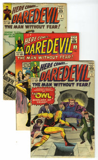 Daredevil # 3, 5, and 8 Group (Marvel, 1964-65). Three comics comprise this lot. They include Daredevil #3 (GD -- origin...